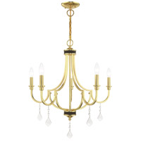 Glendale 5 Light 25 inch Polished Brass Chandelier Ceiling Light