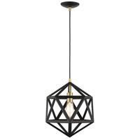 Livex 41328-14 Geometric 1 Light 13 inch Textured Black Pendant Ceiling Light