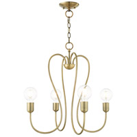 Livex Antique Brass Steel Lucerne Chandeliers
