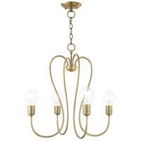 Livex 41364-01 Lucerne 4 Light 20 inch Antique Brass Chandelier Ceiling Light