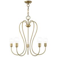 Livex 41365-01 Lucerne 5 Light 24 inch Antique Brass Chandelier Ceiling Light