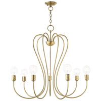 Livex 41367-01 Lucerne 7 Light 30 inch Antique Brass Chandelier Ceiling Light