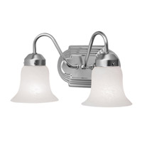 Livex Lighting Home Basics 2 Light Bath Light in Brushed Nickel 4142-91
