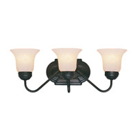 Livex Lighting Home Basics 3 Light Bath Light in Bronze 4143-07
