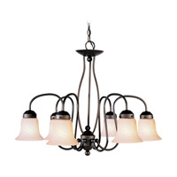 Livex Lighting Home Basics 6 Light Chandelier in Bronze 4146-07