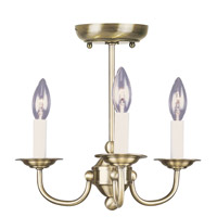 Livex Lighting Home Basics 3 Light Mini Chandelier in Antique Brass 4153-01