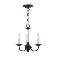 Home Basics 3 Light 14 inch Black Mini Chandelier Ceiling Light