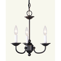 Livex Lighting Home Basics 3 Light Mini Chandelier in Bronze 4153-07