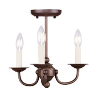 Livex Lighting Coronado 3 Light Mini Chandelier in Imperial Bronze 4153-58