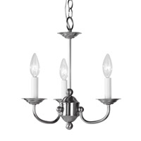 Home Basics 3 Light 14 inch Brushed Nickel Mini Chandelier Ceiling Light