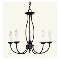Livex 4155-07 Home Basics 5 Light 23 inch Bronze Chandelier Ceiling Light