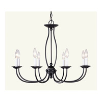 Livex Lighting Home Basics 8 Light Chandelier in Bronze 4158-07