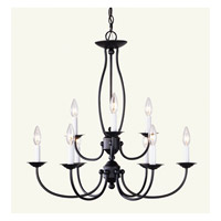 Livex Lighting Home Basics 9 Light Chandelier in Bronze 4159-07