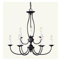 Livex 4159-07 Home Basics 9 Light 26 inch Bronze Chandelier Ceiling Light