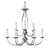 Home Basics 9 Light 26 inch Brushed Nickel Chandelier Ceiling Light