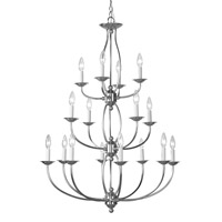 Home Basics 16 Light 30 inch Brushed Nickel Chandelier Ceiling Light