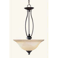 Livex Lighting Home Basics 2 Light Inverted Pendant in Bronze 4163-07