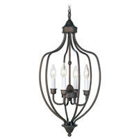 Home Basics 4 Light 13 inch Bronze Foyer Pendant Ceiling Light