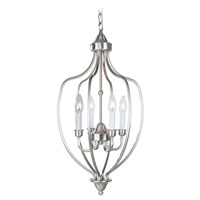 Livex 4171-91 Home Basics 4 Light 13 inch Brushed Nickel Foyer Pendant Ceiling Light