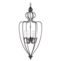 Livex Lighting Home Basics 6 Light Foyer Pendant in Bronze 4174-07