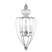 Home Basics 6 Light 16 inch Brushed Nickel Foyer Pendant Ceiling Light
