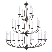 Livex Lighting Home Basics 24 Light Chandelier in Bronze 4180-07