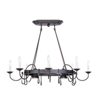 Livex Lighting Home Basics 10 Light Pot Rack in Bronze 4188-07 photo thumbnail