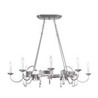 Livex Lighting Home Basics 10 Light Pot Rack in Brushed Nickel 4188-91