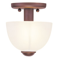 Livex Lighting Somerset 1 Light Ceiling Mount in Vintage Bronze 4190-70