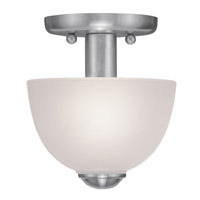 Livex Lighting Somerset 1 Light Ceiling Mount in Brushed Nickel 4190-91