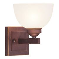 Livex Lighting Somerset 1 Light Bath Light in Vintage Bronze 4201-70
