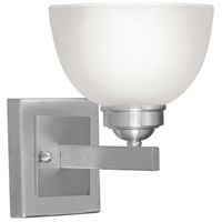 Livex Lighting Somerset 1 Light Bath Light in Brushed Nickel 4201-91