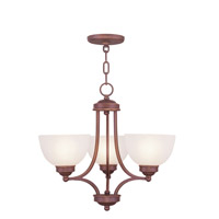 Livex Lighting Somerset 3 Light Chandelier in Vintage Bronze 4213-70