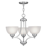 Livex Lighting Somerset 3 Light Chandelier in Brushed Nickel 4213-91 photo thumbnail