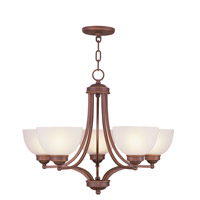 Livex Lighting Somerset 5 Light Chandelier in Vintage Bronze 4215-70