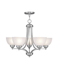 Livex Lighting Somerset 5 Light Chandelier in Brushed Nickel 4215-91