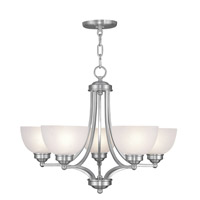 Livex Lighting Somerset 5 Light Chandelier in Brushed Nickel 4215-91 alternative photo thumbnail