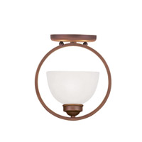 Livex Lighting Somerset 1 Light Ceiling Mount in Vintage Bronze 4217-70