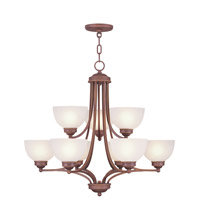 Livex Lighting Somerset 9 Light Chandelier in Vintage Bronze 4219-70