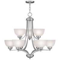 Livex Lighting Somerset 9 Light Chandelier in Brushed Nickel 4219-91