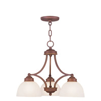 Livex Lighting Somerset 3 Light Chandelier in Vintage Bronze 4223-70