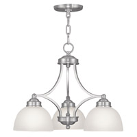 Livex Lighting Somerset 3 Light Chandelier in Brushed Nickel 4223-91
