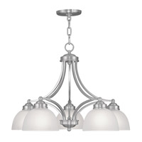 Livex Lighting Somerset 5 Light Chandelier in Brushed Nickel 4225-91