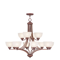 Livex Lighting Somerset 12 Light Chandelier in Vintage Bronze 4228-70