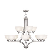 Livex Lighting Somerset 12 Light Chandelier in Brushed Nickel 4228-91