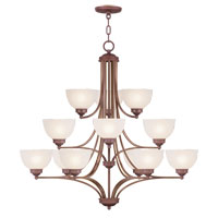 Livex Lighting Somerset 12 Light Chandelier in Vintage Bronze 4229-70