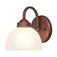Livex 4231-70 Somerset 1 Light 7 inch Vintage Bronze Bath Light Wall Light photo thumbnail