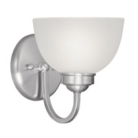 Somerset 1 Light 7 inch Brushed Nickel Bath Light Wall Light