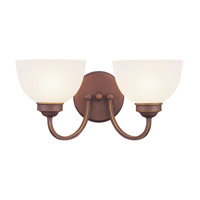 Livex 4232-70 Somerset 2 Light 16 inch Vintage Bronze Bath Light Wall Light photo thumbnail