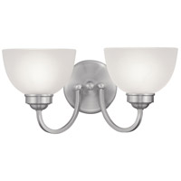 Somerset 2 Light 16 inch Brushed Nickel Bath Light Wall Light